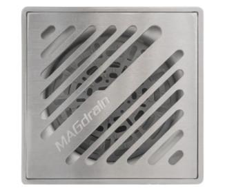 Трап для душа MAGdrain PFC30Q50-B (100x100x7мм, хром матовый,  нержавеющая сталь)